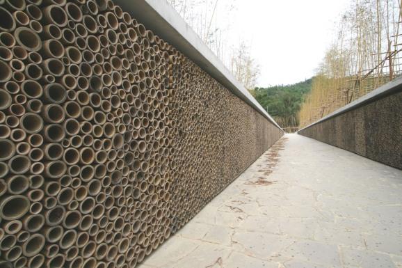 Memorial wall detail