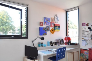 Integrated study corner in the rooms