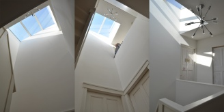 Sky light give the interior staircase natural light
