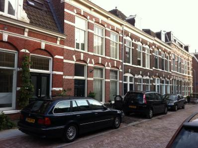 Historical street in Haarlem