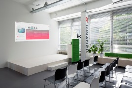 Podium area for office presentation and cursus