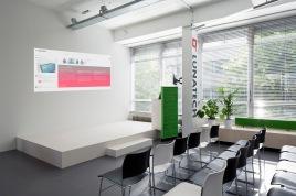Podium area for office presentation and cursus