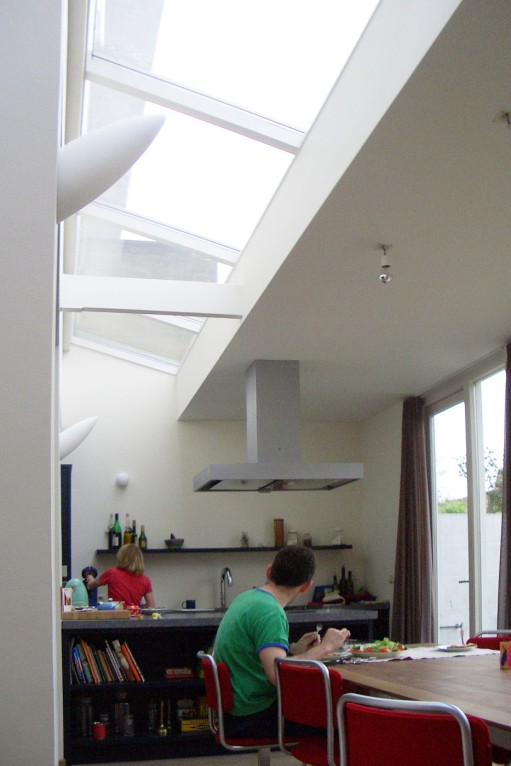 Sky light brings generous amounth of natural light in the middel of the room