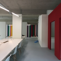 Integration of the office logo in the interior